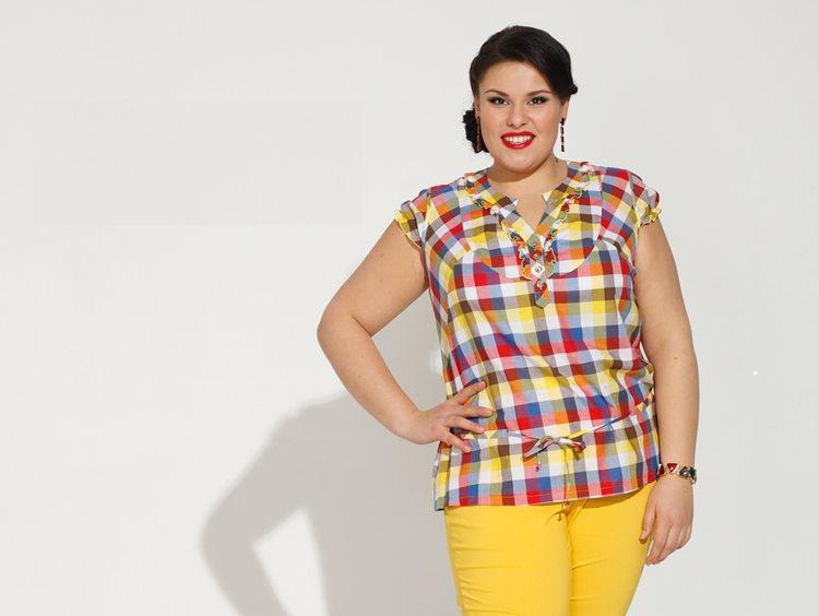 Фото моделей блузок-рубашек для очень полных женщин