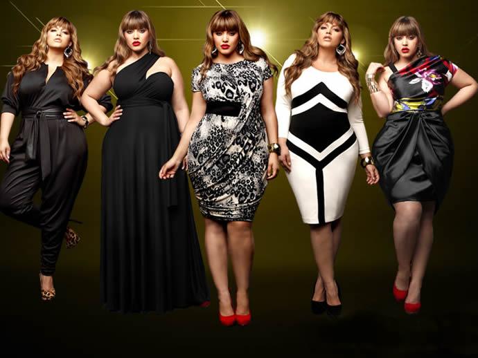 Фото одежда для толстых женщин