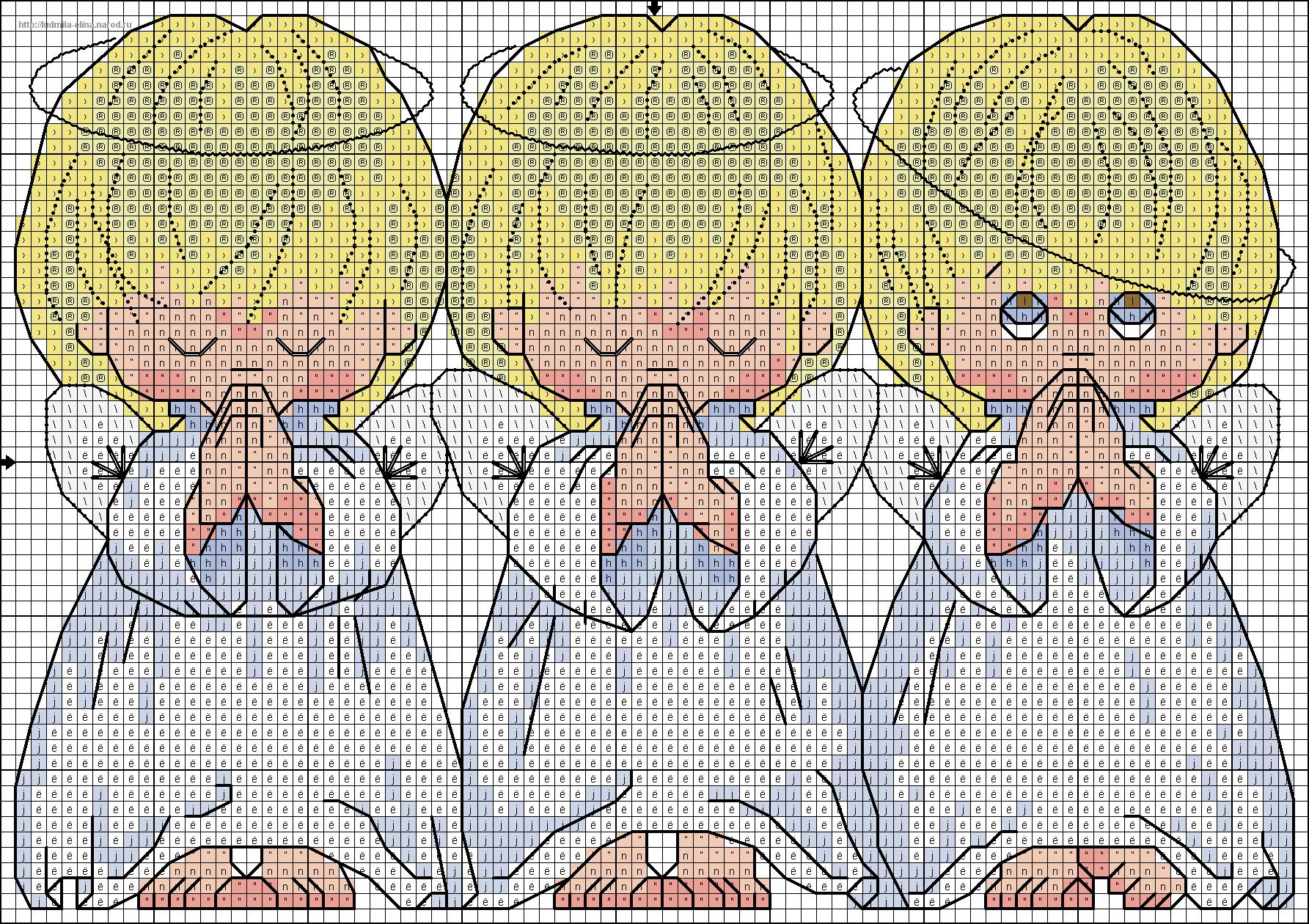 Отзывы о вышивке ангелочков 330