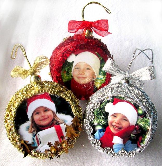 Игрушки на елку с фотографиями