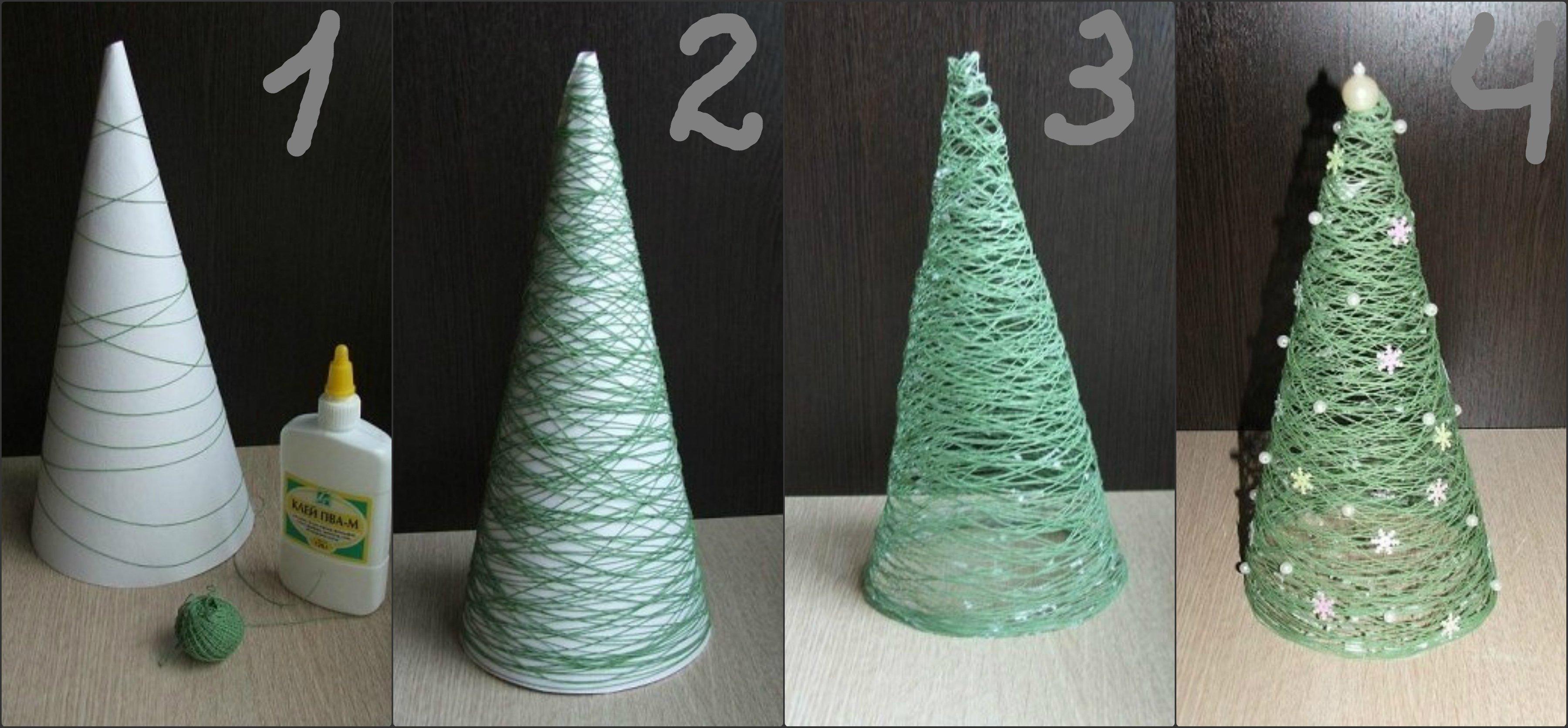 Как сделать новогоднюю елку своими руками в