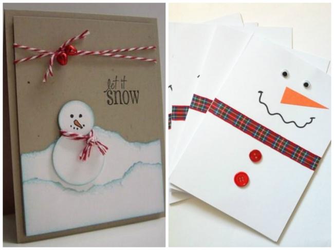 Новогодняя открытка своими руками легко