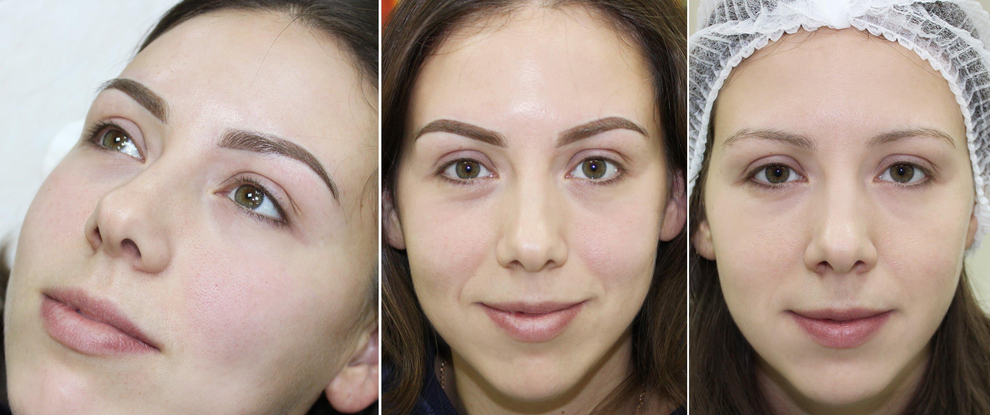 татуаж бровей фото до и после отзывы