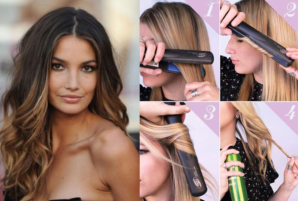 Фото:укладка волос от лица