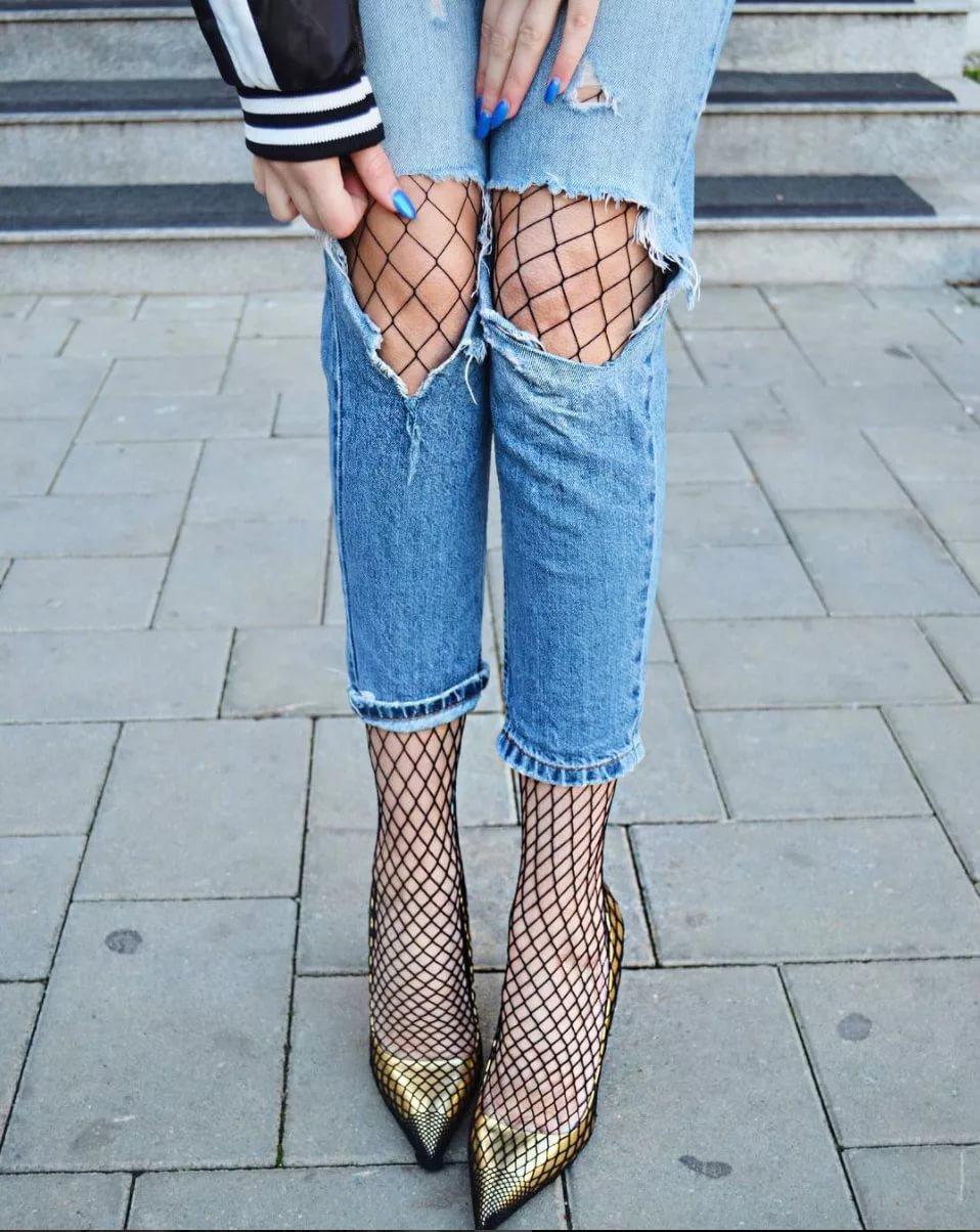 Фото на тему: Колготки в сетку с чем носить? Чтобы было не вульгарно