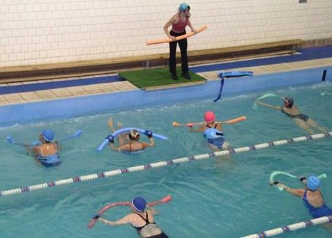 Фото занятия плаванием в бассейне для похудения
