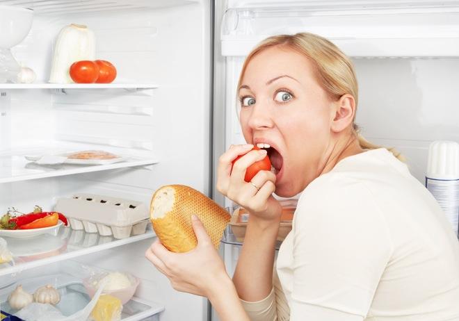 Фото как снизить аппетит ночью у холодильника
