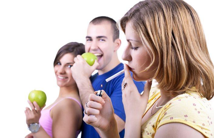 Фото как продукты помогают бросить курить