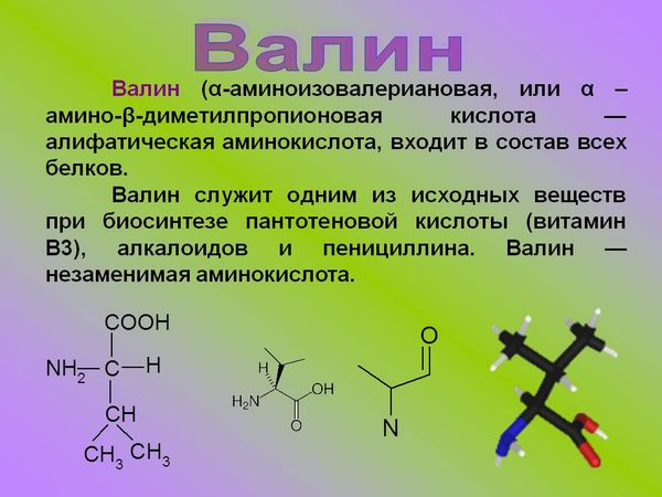 Валин аминокислота