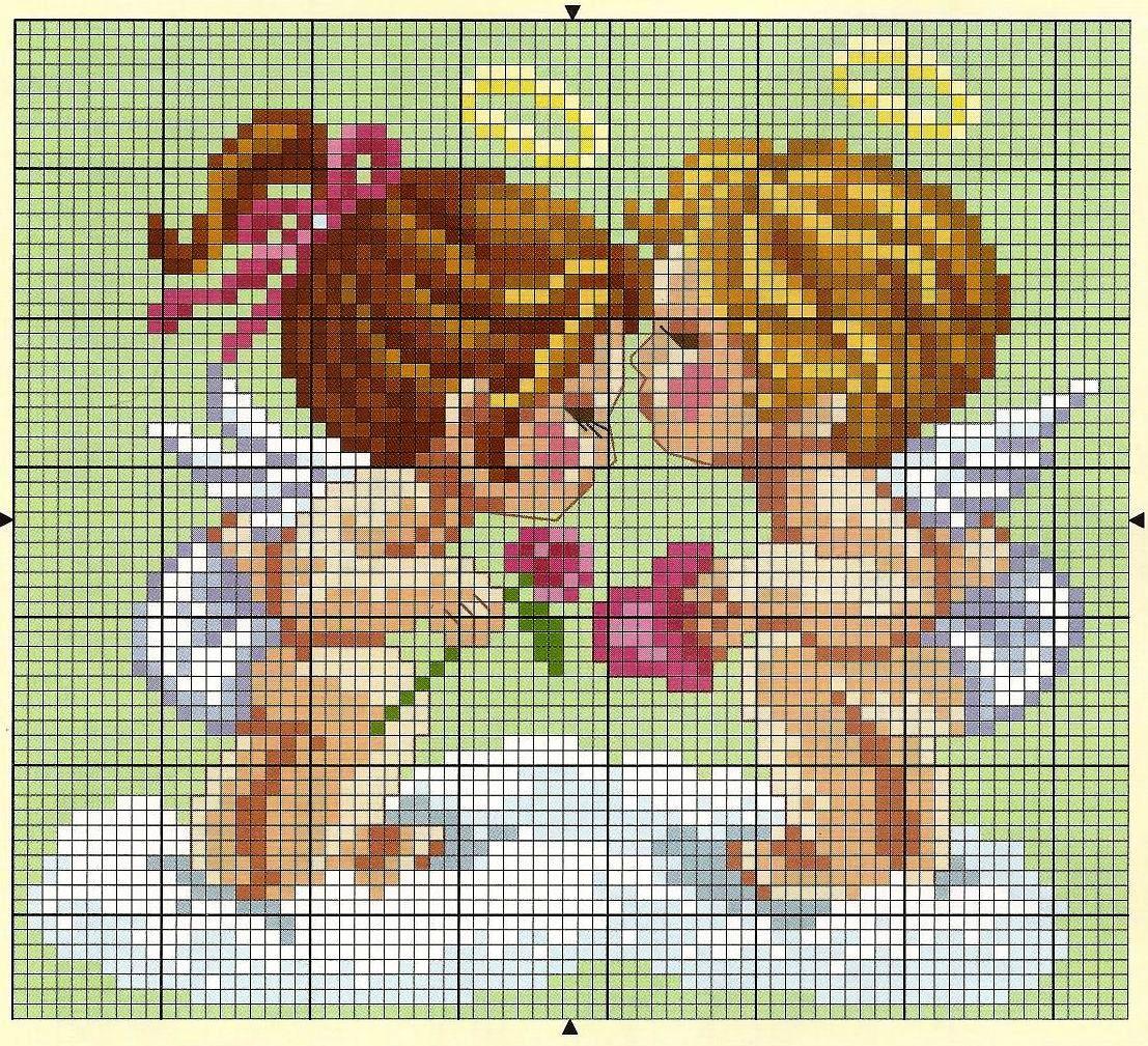 Ангелочки вышивка фото