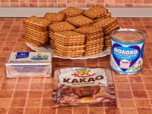 Минутка из печенья со сгущенкой рецепт