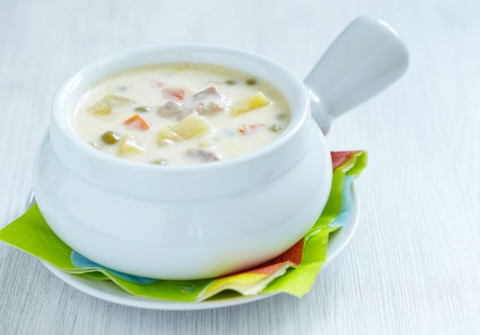 сырный суп с цветной капустой и плавленным сыром