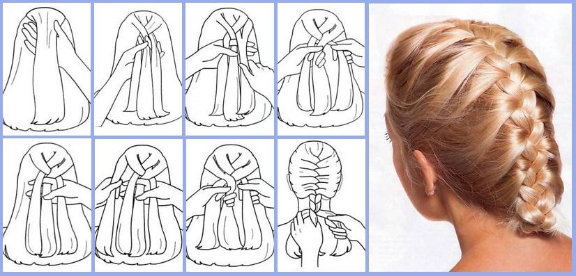 Плетение косичек колосок обучение