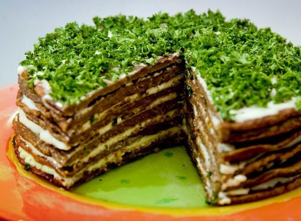 печеночный торт из куриной печени рецепты с фото со сметаной
