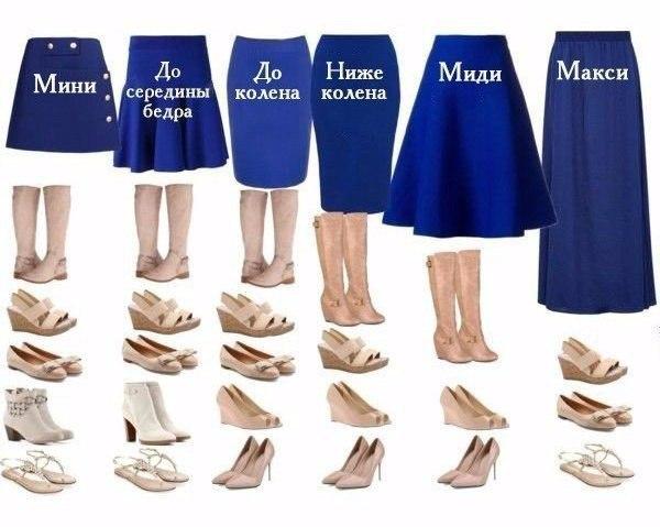 Подобрать обувь под юбку