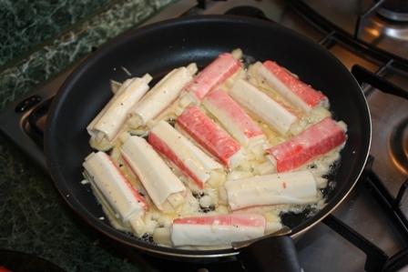 Пожарить крабовые палочки рецепты