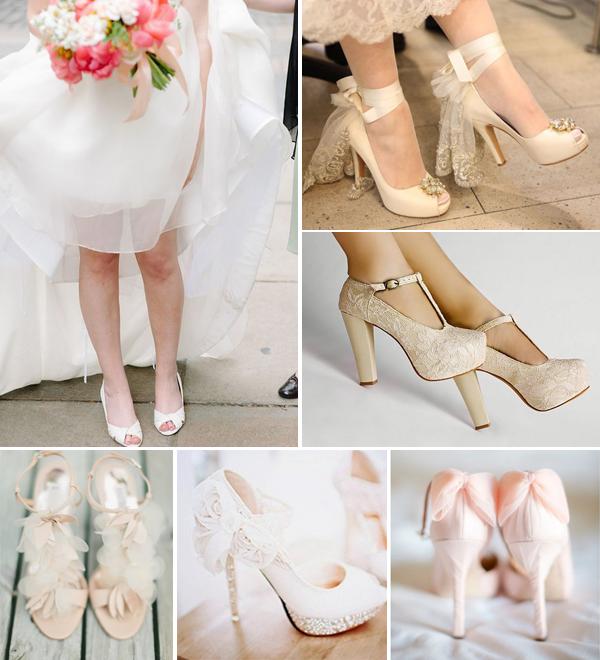 Цвет туфлей к свадебному платью