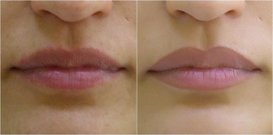 Микропигментирование губ до и после