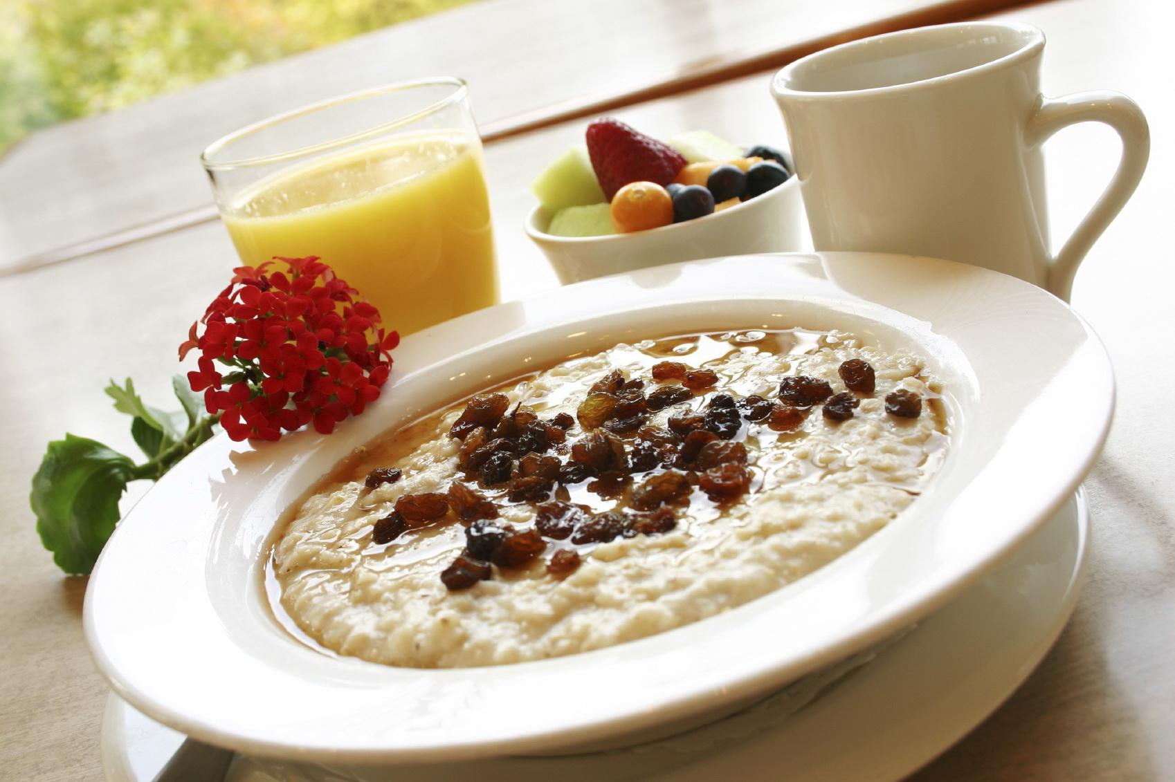 Овсяная каша на завтрак