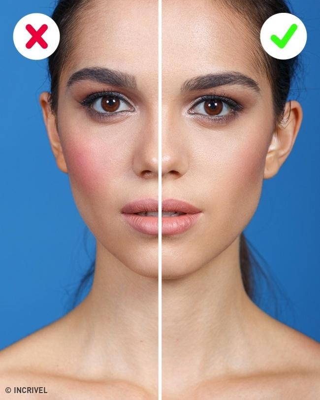 Скрыть большие скулы макияж