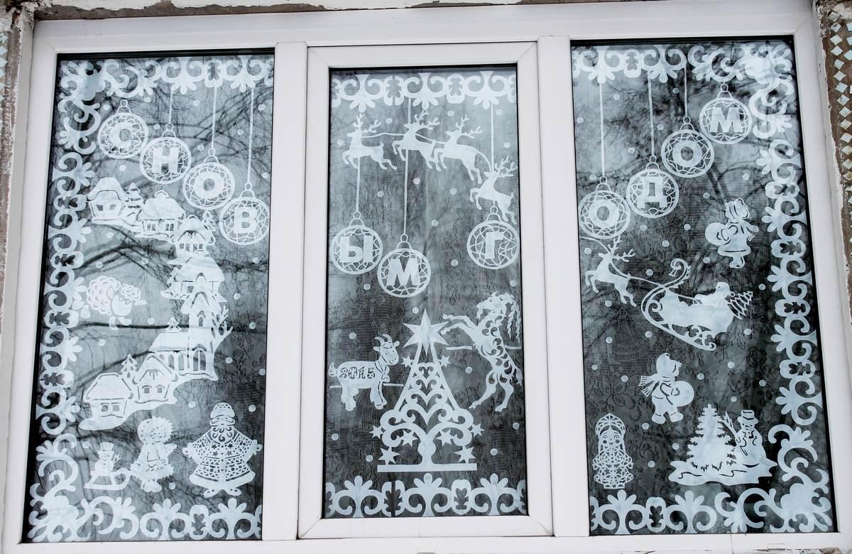 Красивые узоры на окнах своими руками