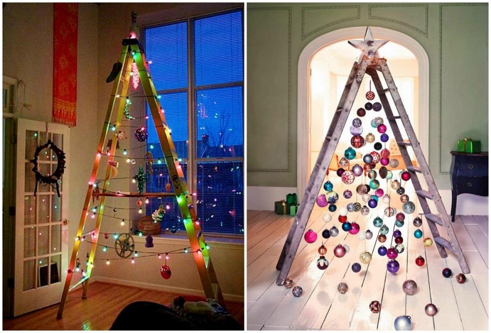 Фото на тему: Самые необычные новогодние елки своими руками