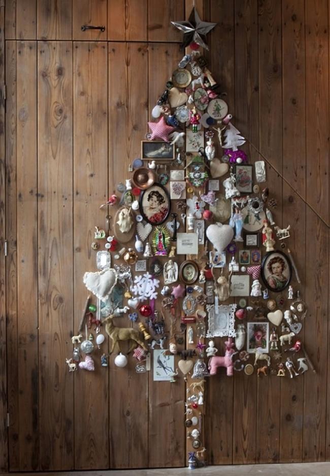 Новогодние украшения.  Как и чем украсить елку. Украшения на елку, игрушки своими руками. Елка своими руками. Необычные елки. 1480709393