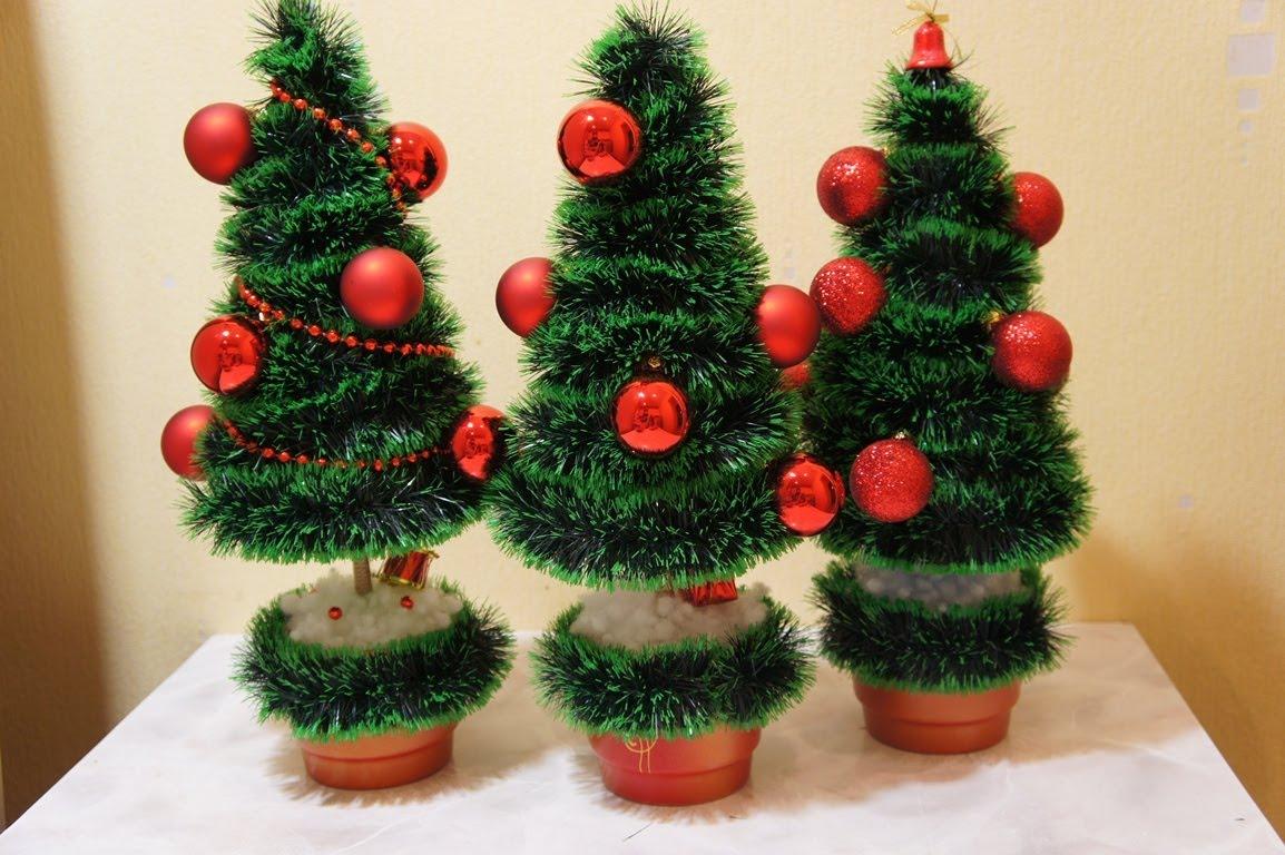 Сделать елки своими руками к новому году