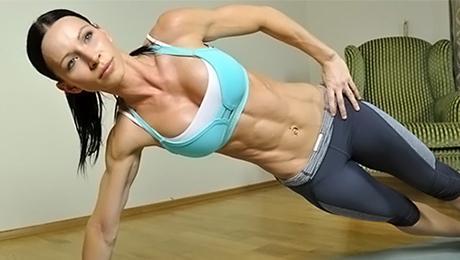 Фото и отзывы о Комплекс упражнений для пресса для девушек