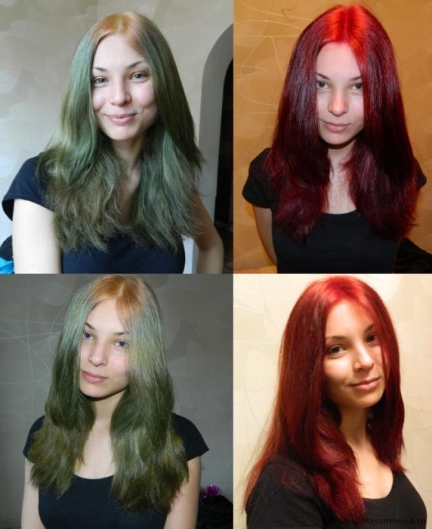 Покрасить темные волосы тоником в красный