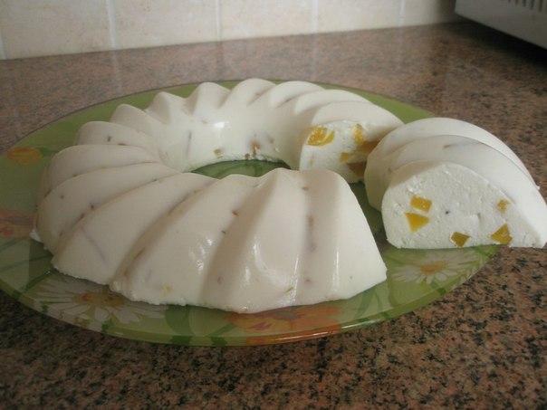 Фото на тему: Низкокалорийный десерт: бланманже творожное. Рецепт