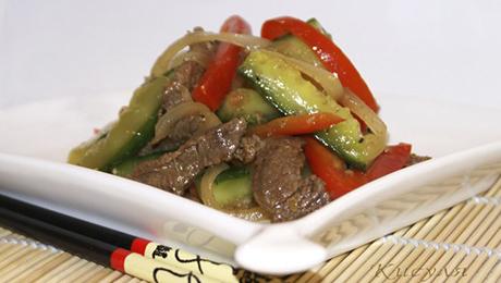Фото и отзывы о Диетический салат по китайски с мясом и огурцами