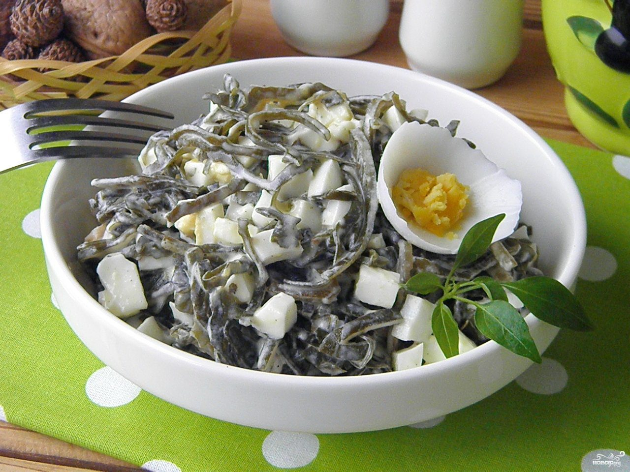 Салат из морской капусты рецепт с яйца