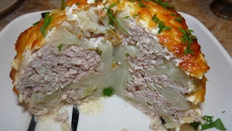 Фото и отзывы о Фаршированная цветная капуста в духовке. Рецепт!