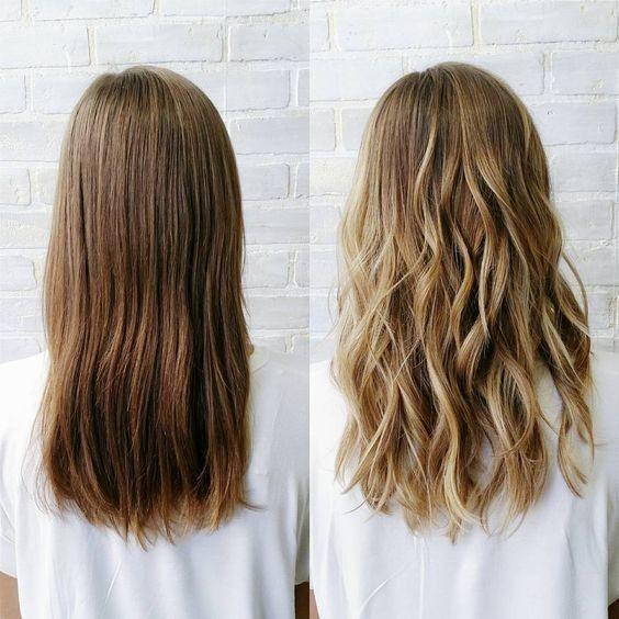 Картинка по теме: Техника стробинг волос: фото до и после окрашивания