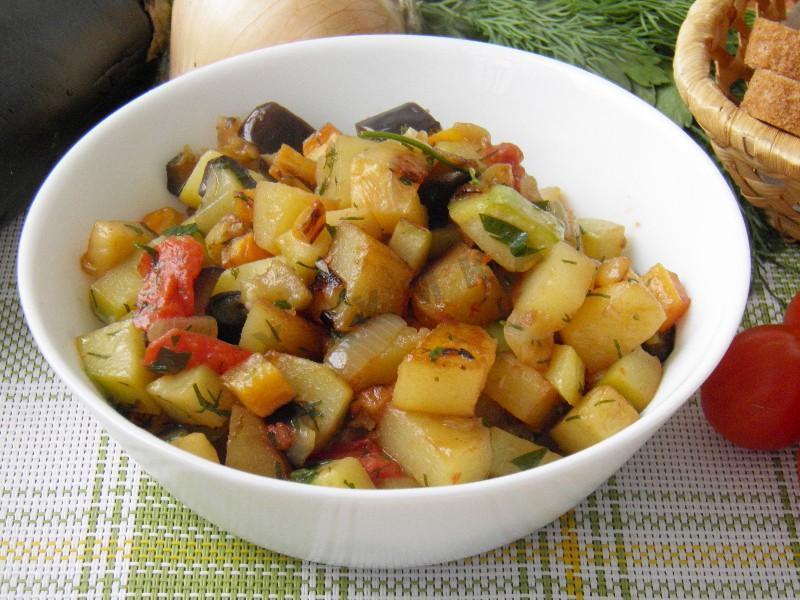 Овощное рагу с кабачками и картошкой рецепт с фото в мультиварке