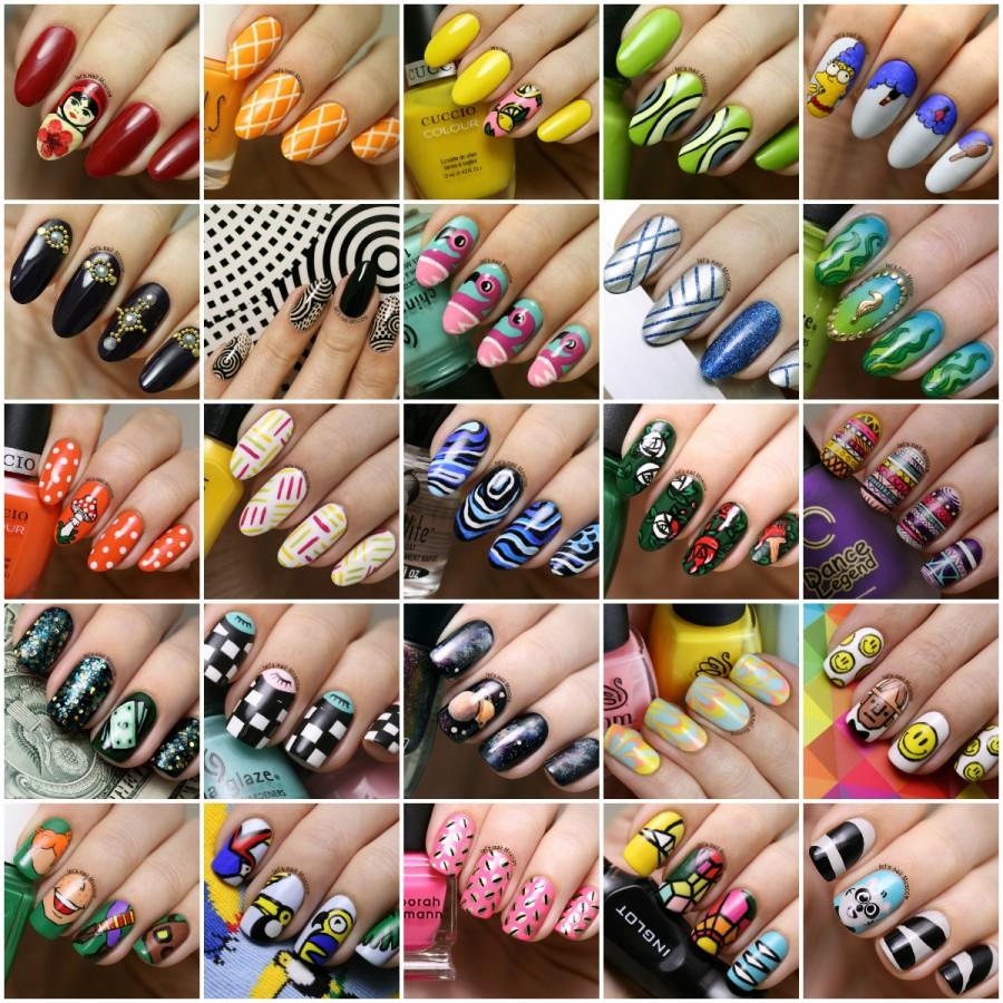 Яркий дизайн длинных ногтей