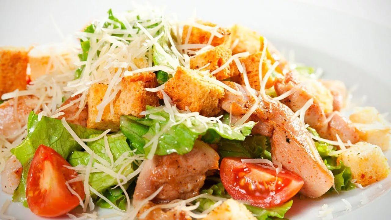 Картинка по теме: Очень вкусный овощной салат с курицей. Рецепт